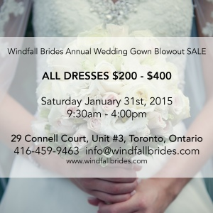 Bridesale Jan 31, 2015